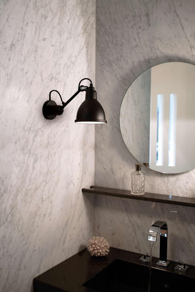304 badrum vägglampa svart/svart