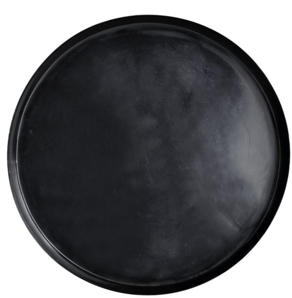 Fat aluminium svart Ø50