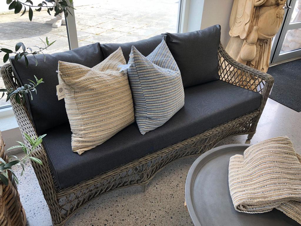 Marbella 3-sits soffa inkl. dyna duo black