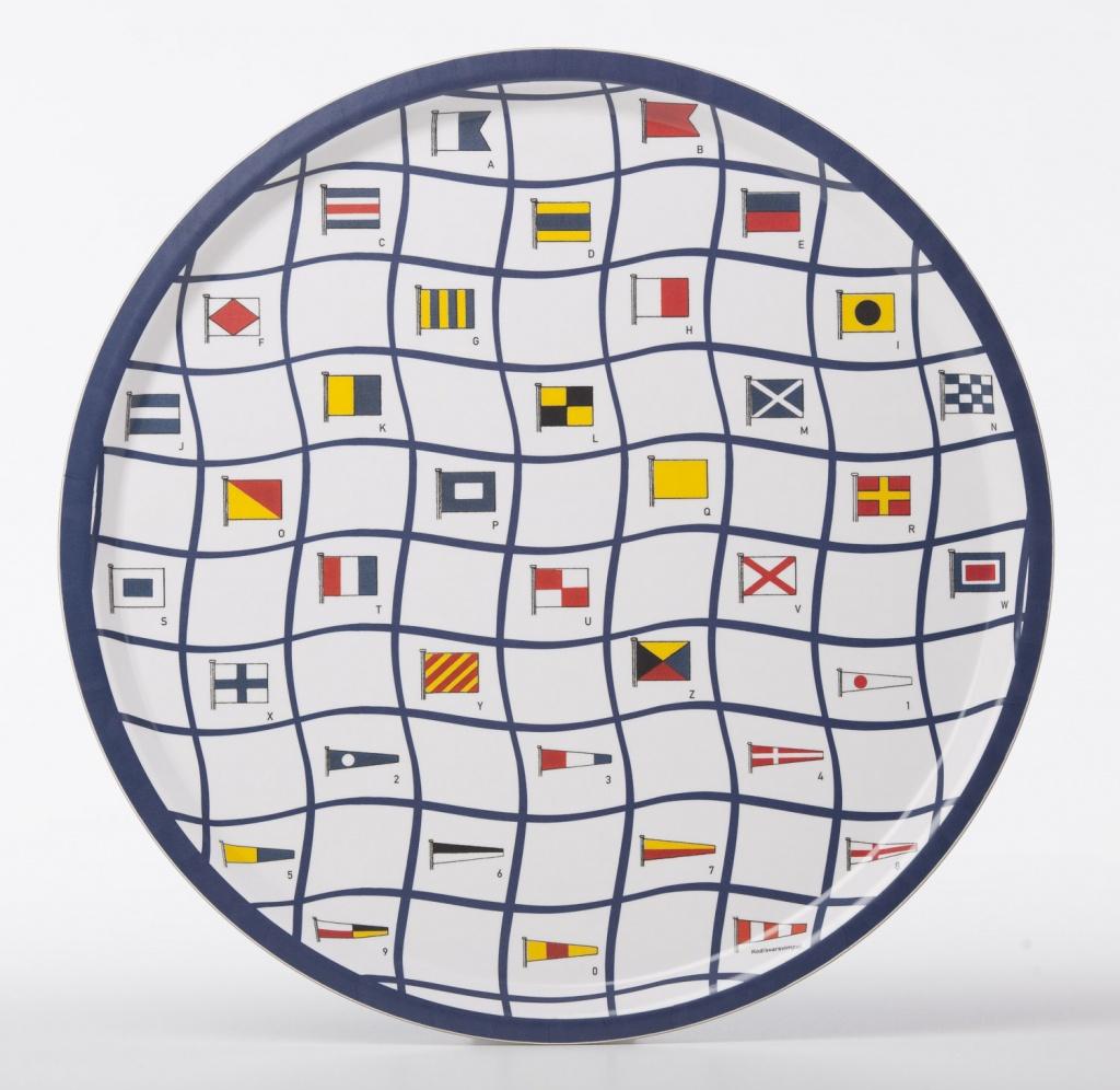 Bricka Signalflagg rund