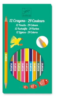 12 double pencils, 24 colours