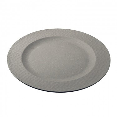 Hammered Large Plate - Stone Grey