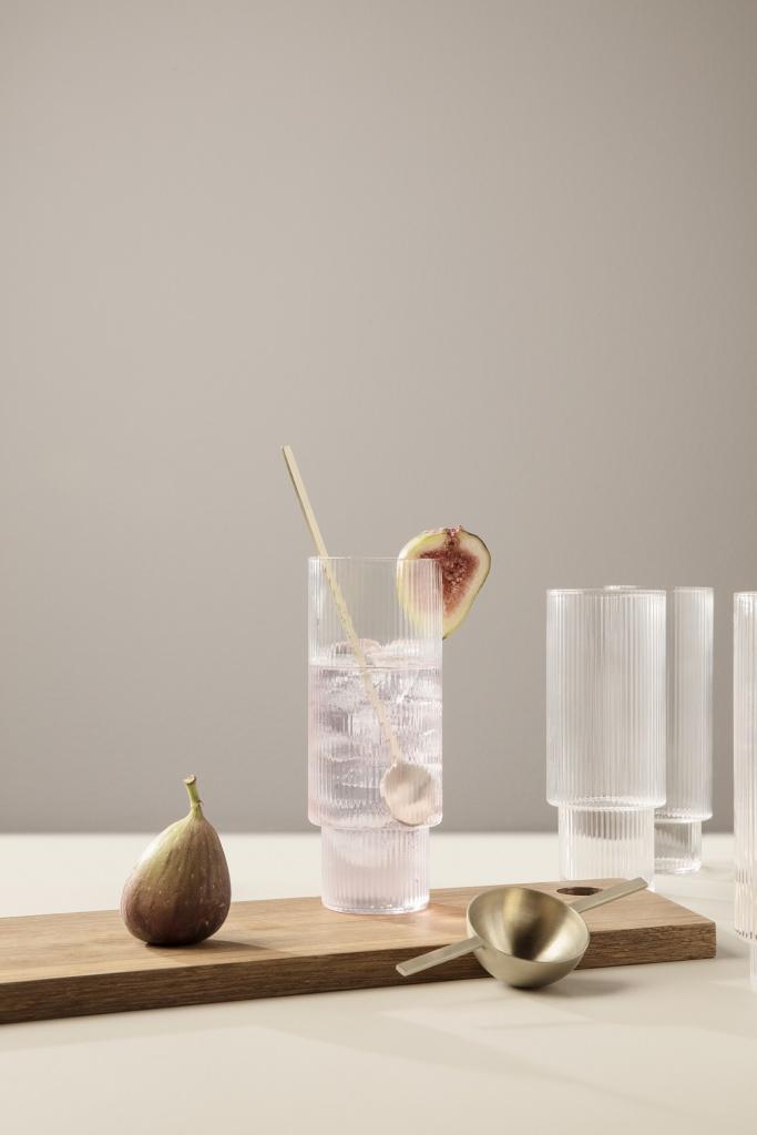 Ferm Living Ripple Long Drink Glasses 4-pack