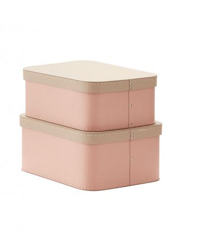 Kids Concept Förvaringsbox 2-set Rosa