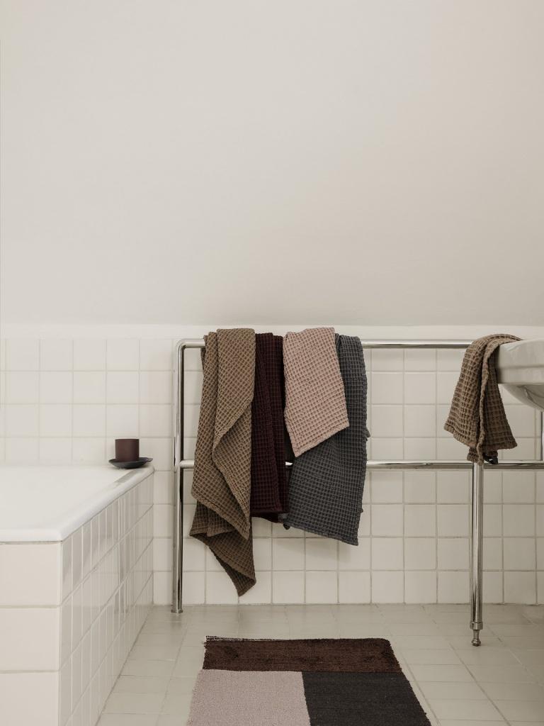Ferm Living Organic Bath Towel 70x140 Grey