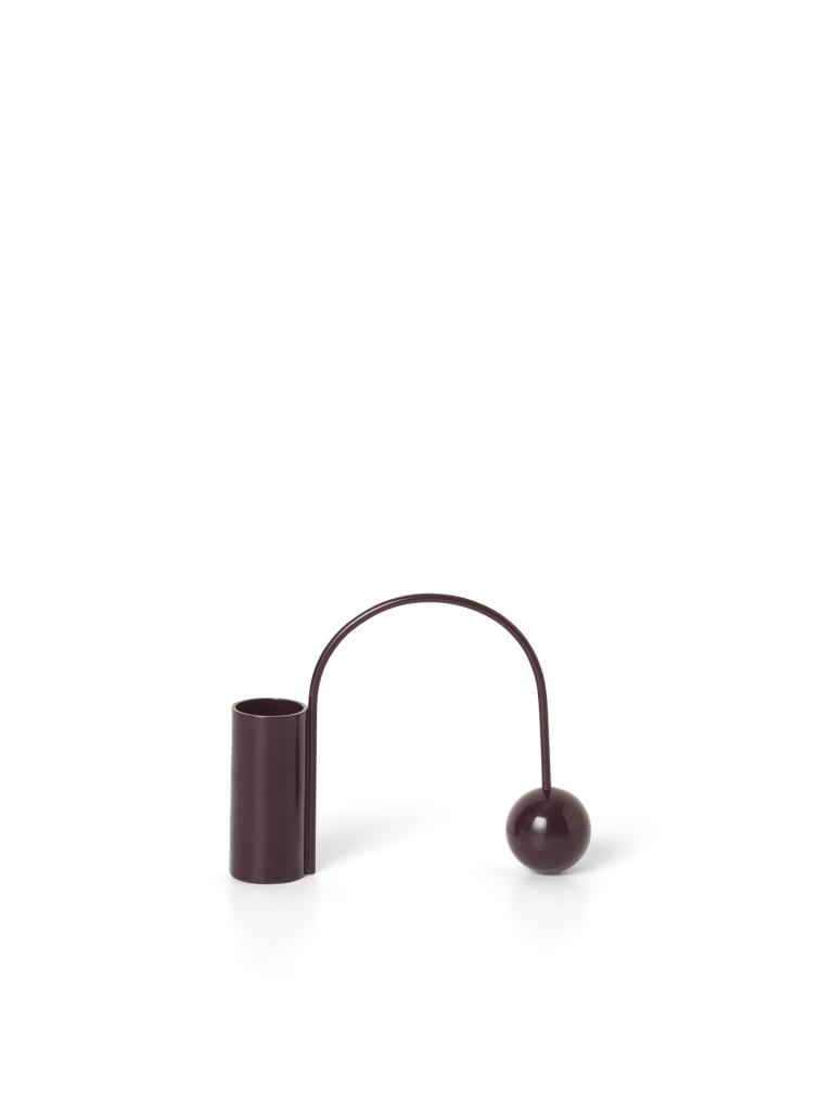 Ferm Living Balance Candle Holder Dark Aubergin