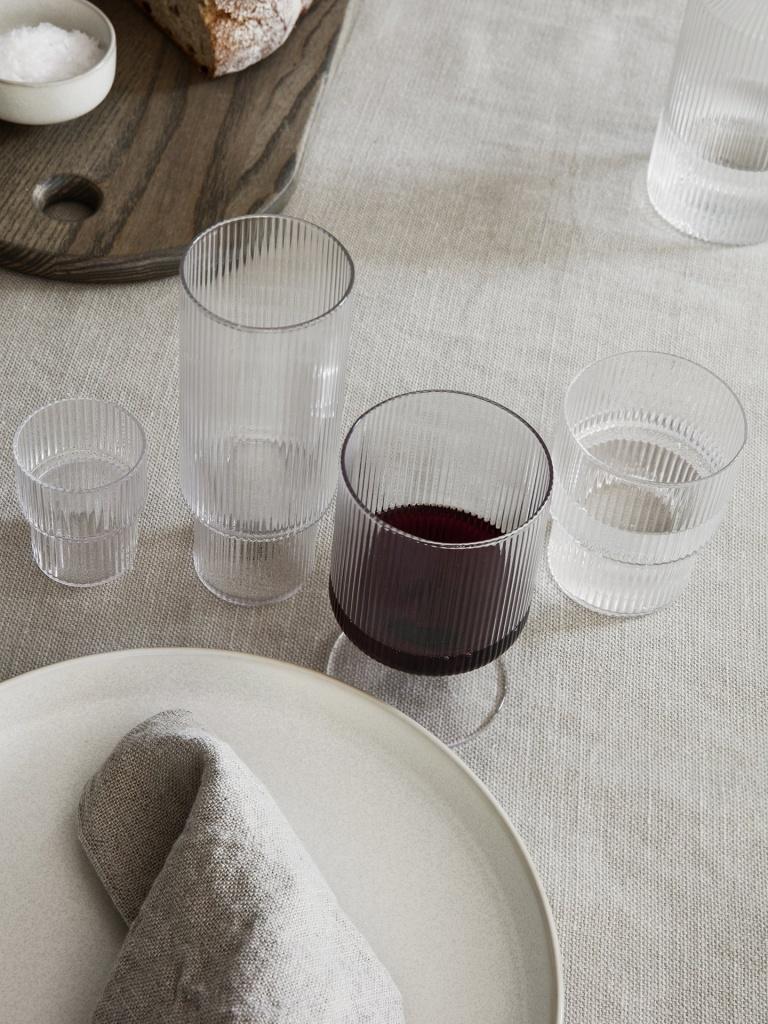 Ferm Living Ripple Wine Glass 2-pack