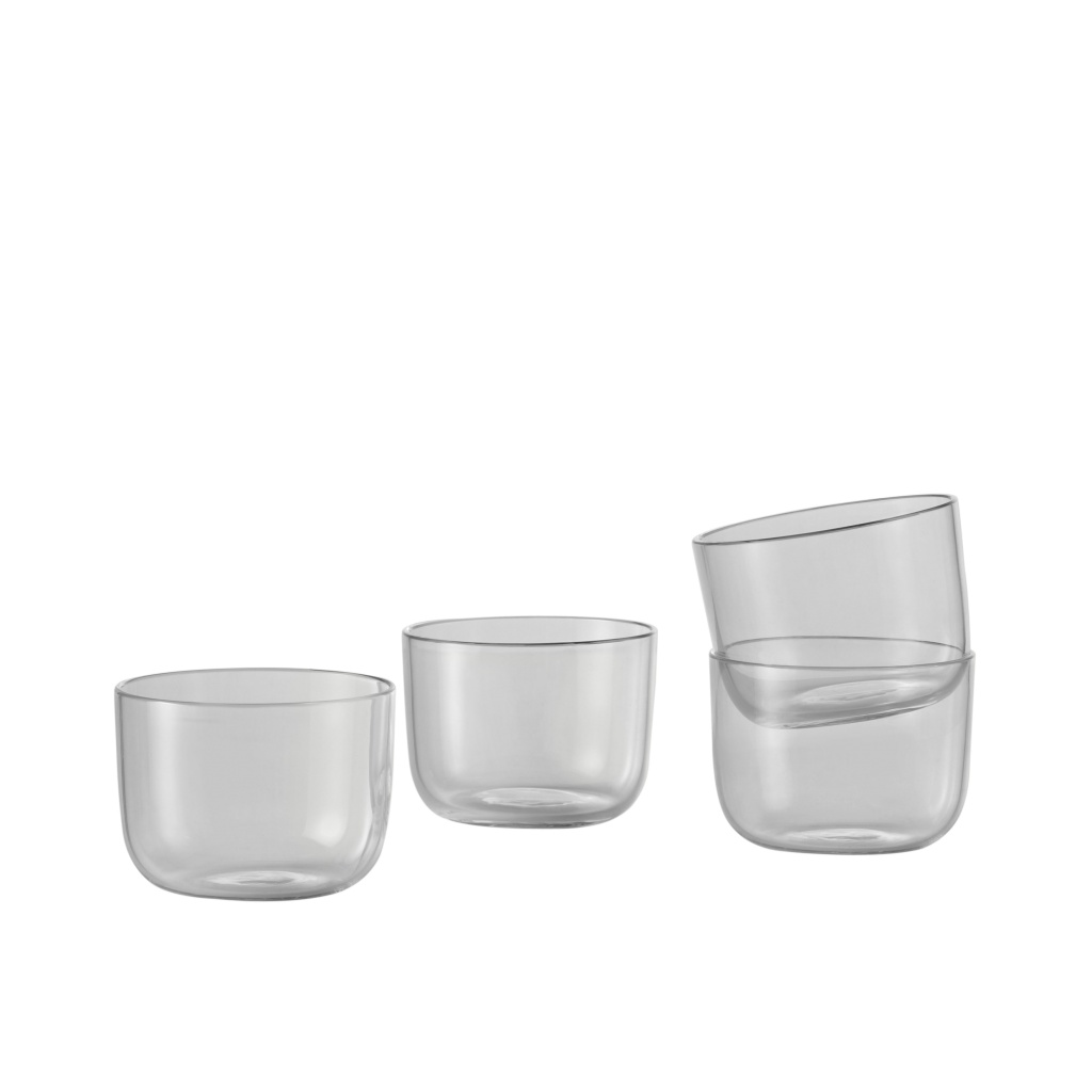 Muuto Corky Glasses Clear 4-p Low