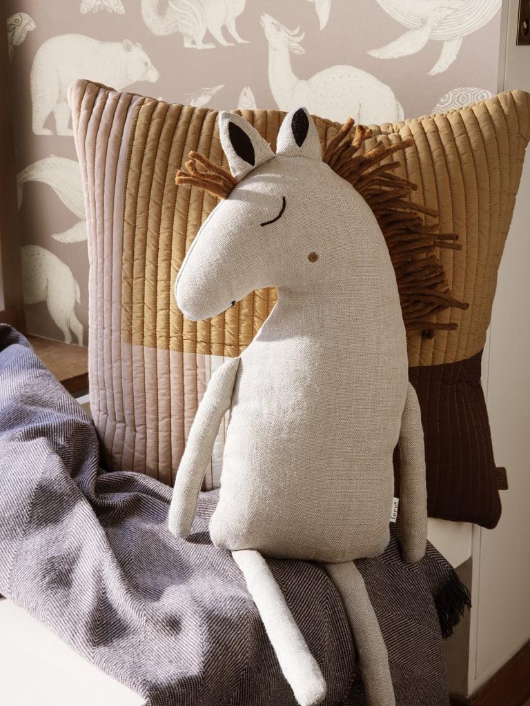 Ferm Living Safari Cushion Horse Natural