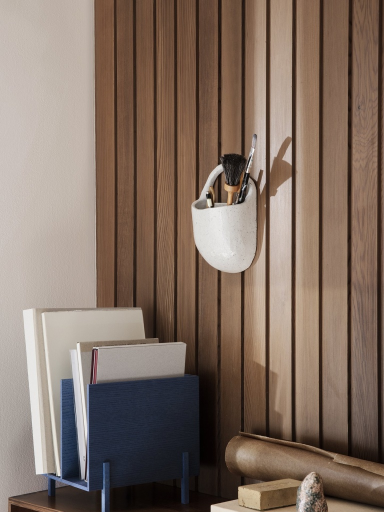Ferm Living Speckle Wall Pocket Off White