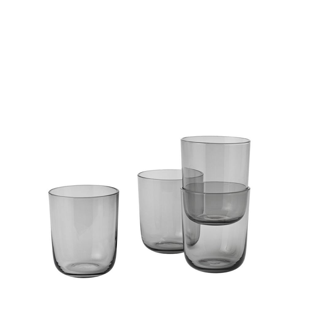 Muuto Corky Glasses Grey 4-p High