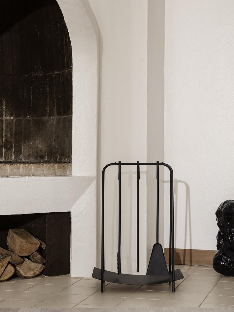 Ferm Living Port Fireplace Tools Black