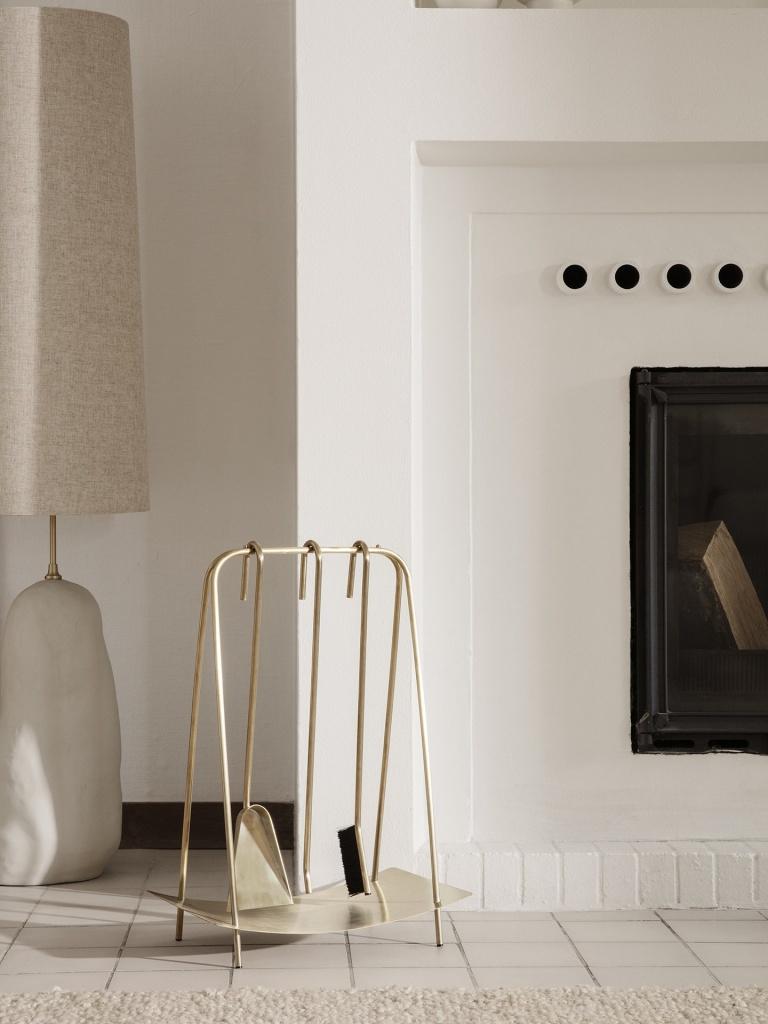 Ferm Living Port Fireplace Tools Brass