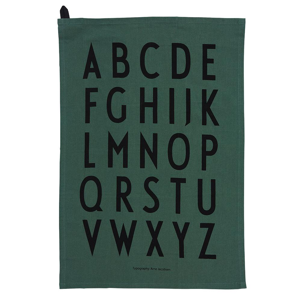 Design Letters Kökshandduk Classic 2-pack Dark Green