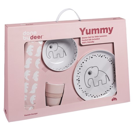 Done by Deer Happy Dots Dinner set Powder
