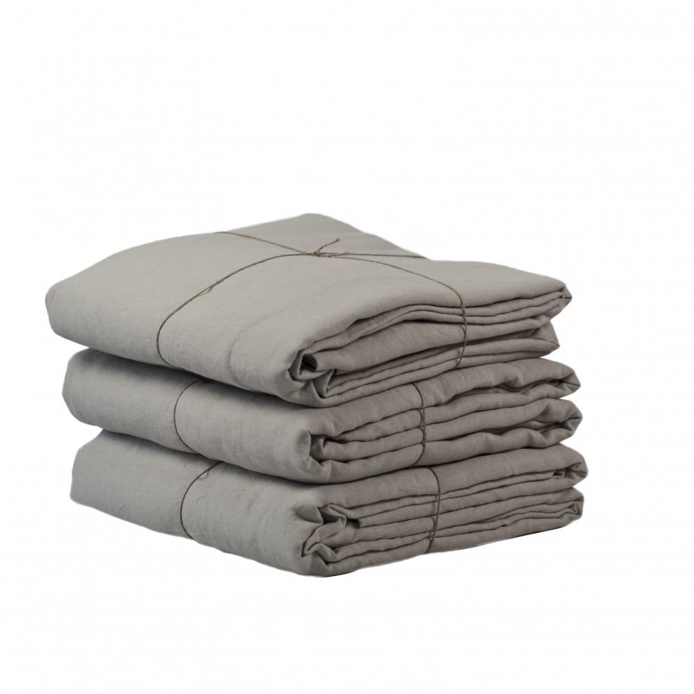 Tell Me More Linnepåslakan  150x200 Warm Grey
