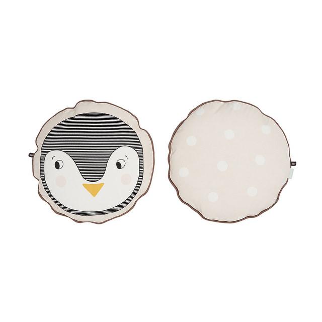 OYOY - Rund kudde Pingvin 38x38
