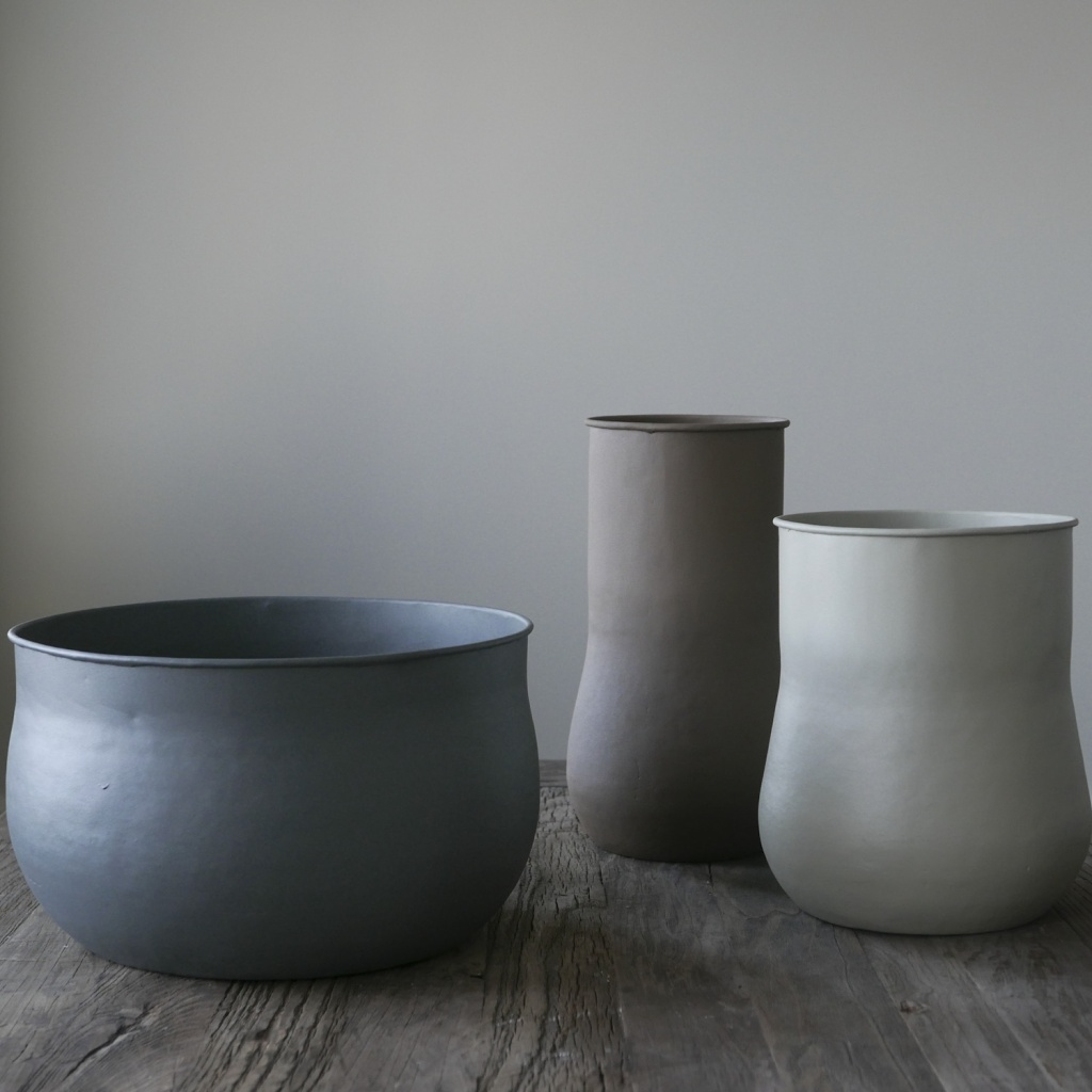 Tell Me More Big Vase Grey