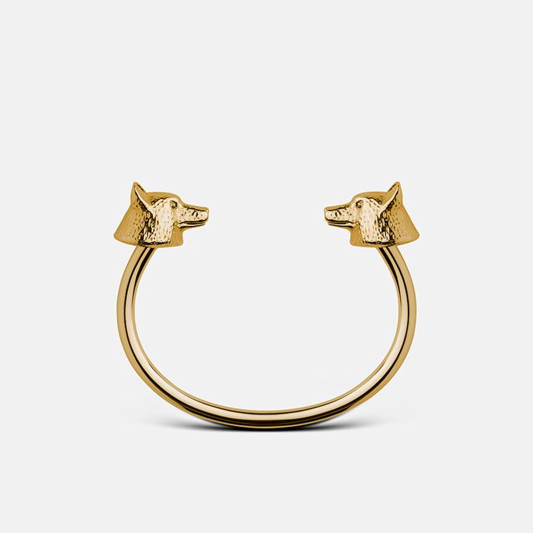 Skultuna Armband Wolf Cuff Gold