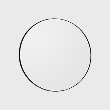 Aytm Circum Round Mirror Black
