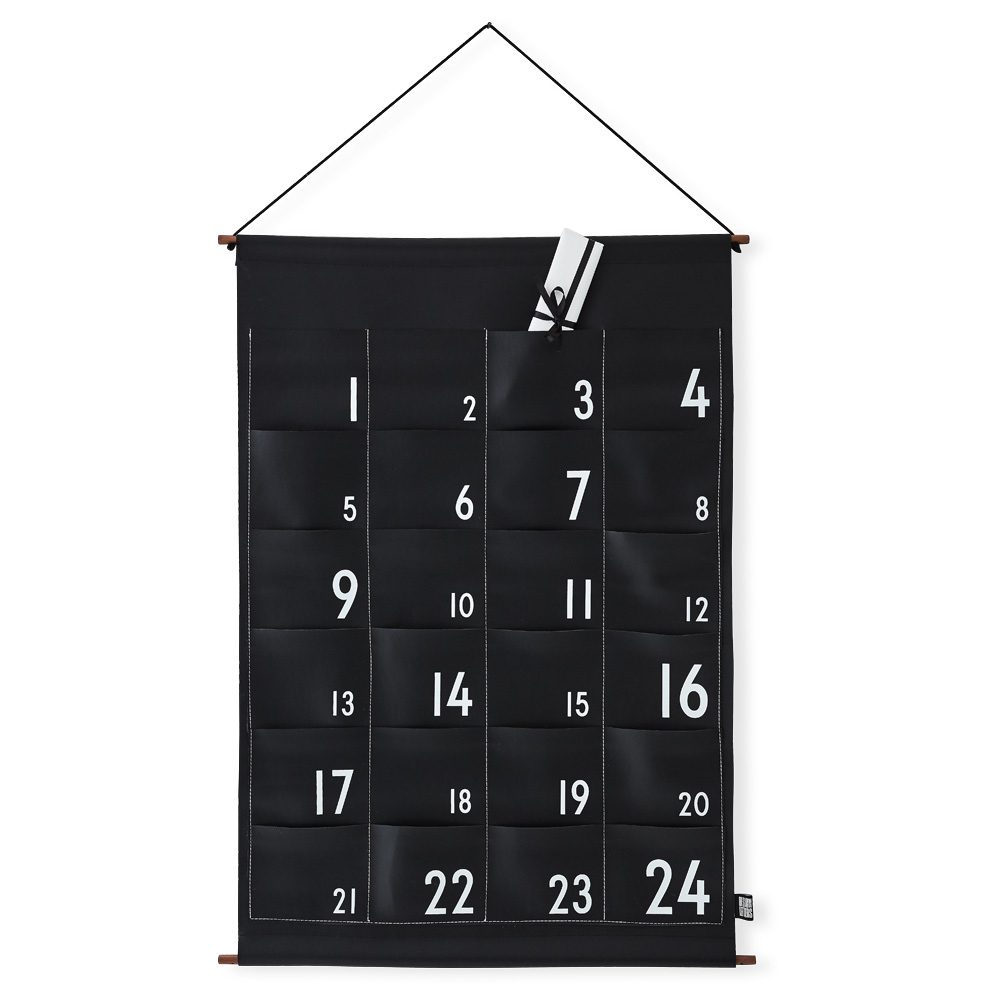 Design Letters Christmas Calendar Black