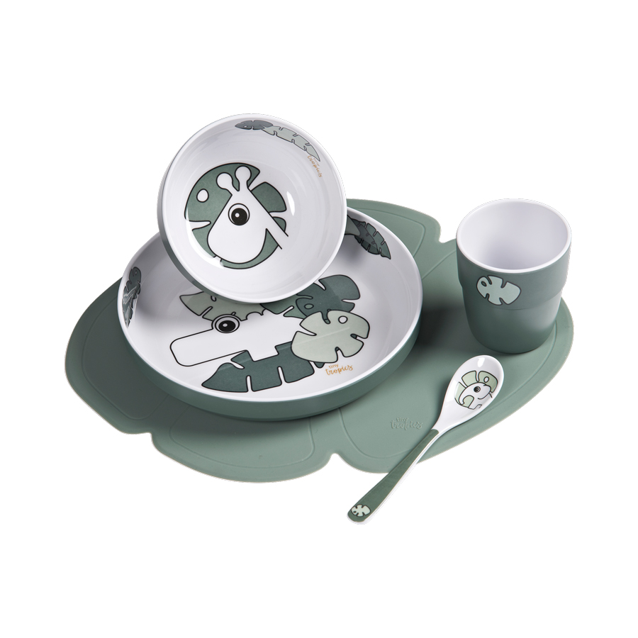 Done by Deer Tiny Tropic Dinner set