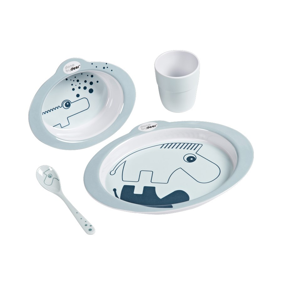 Done by Deer Dinner set Contour Blue/Blue