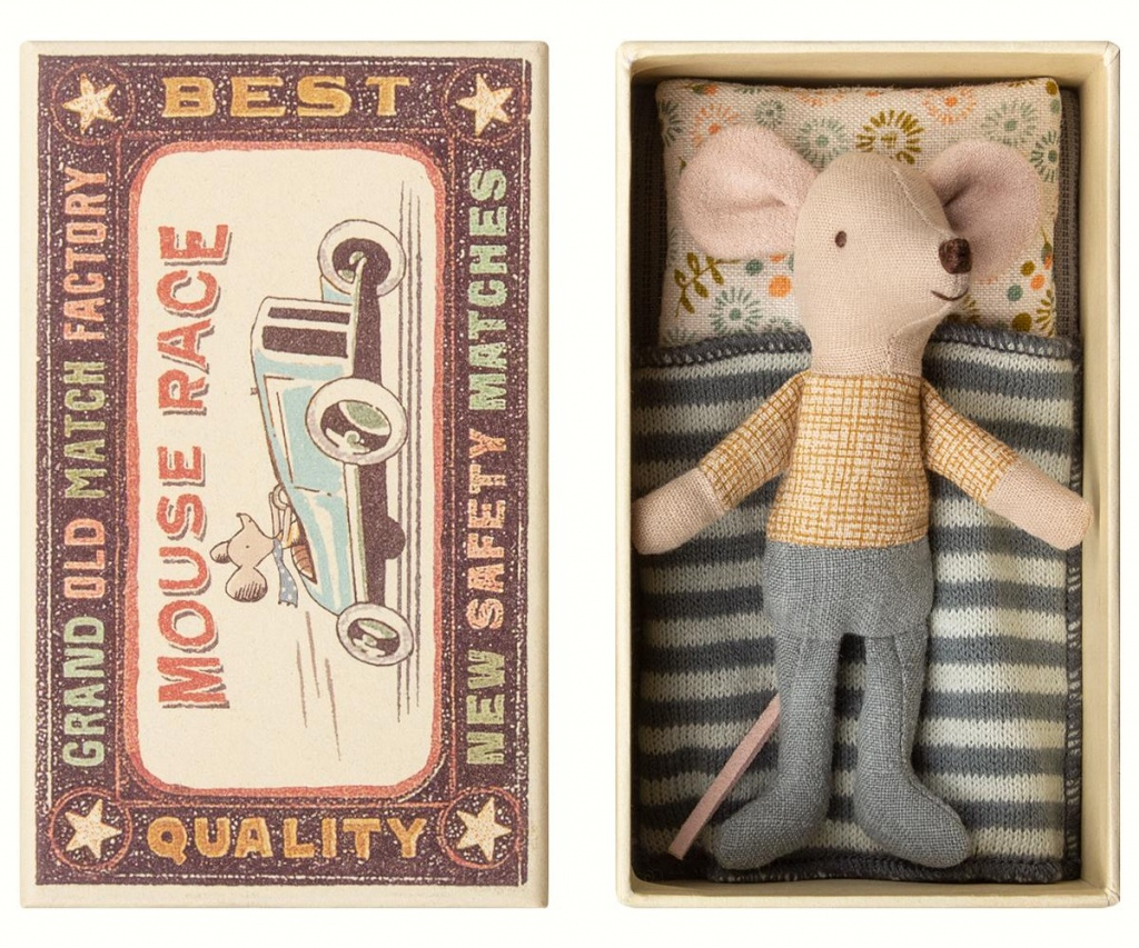 Maileg Little Brother mouse in box