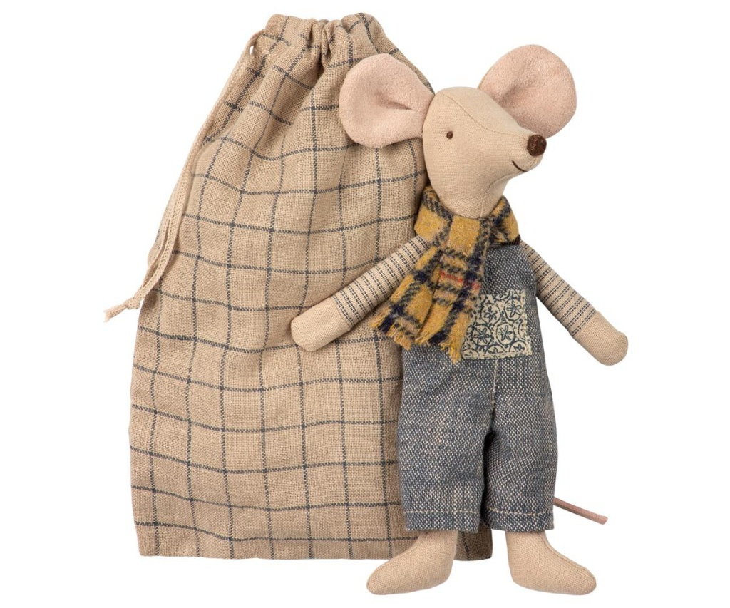 Maileg Winter mouse father in bag
