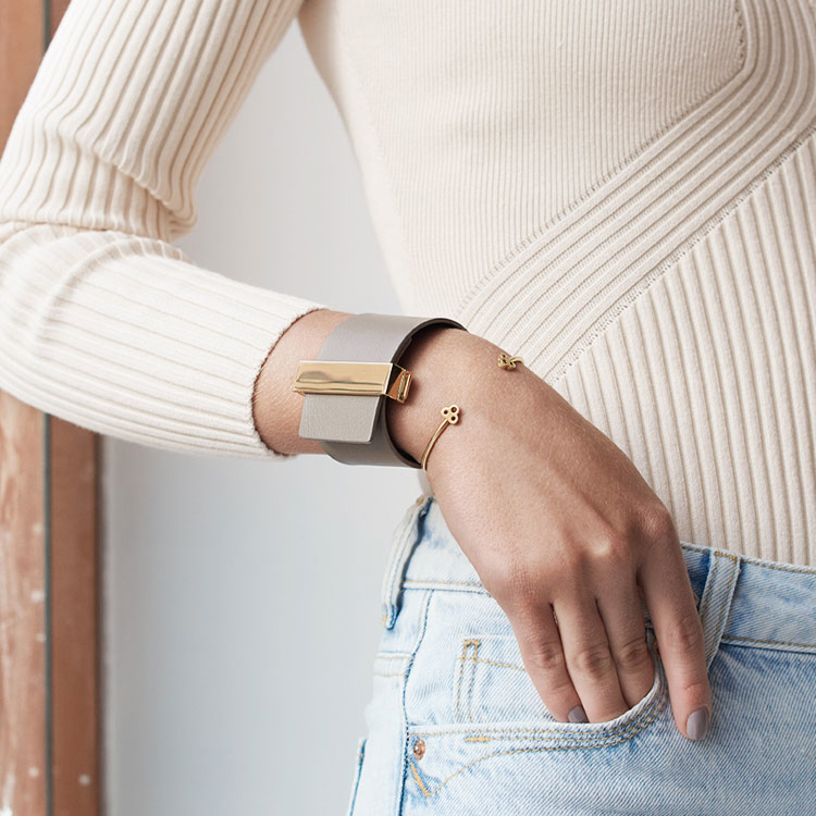 Skultuna Armband Open Key Cuff Gold