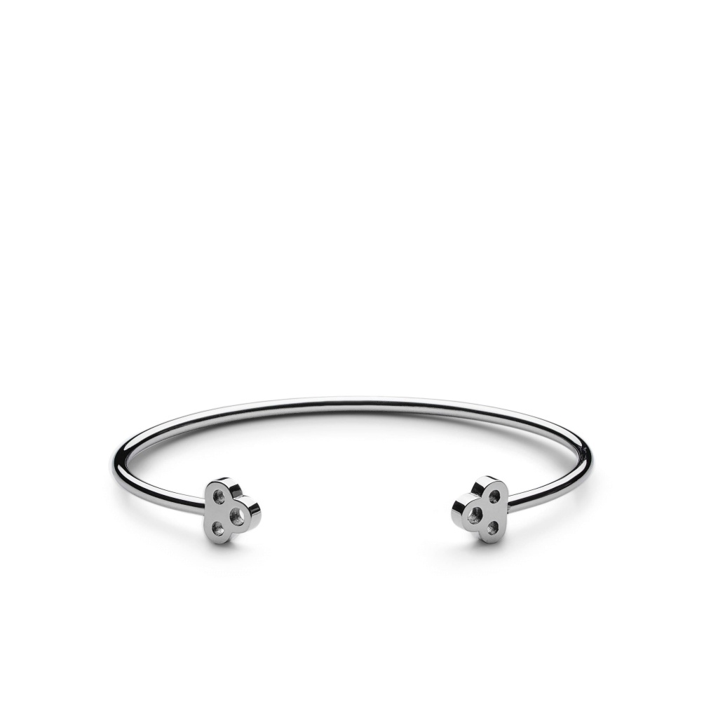Skultuna Armband Open Key Cuff Polished Steel