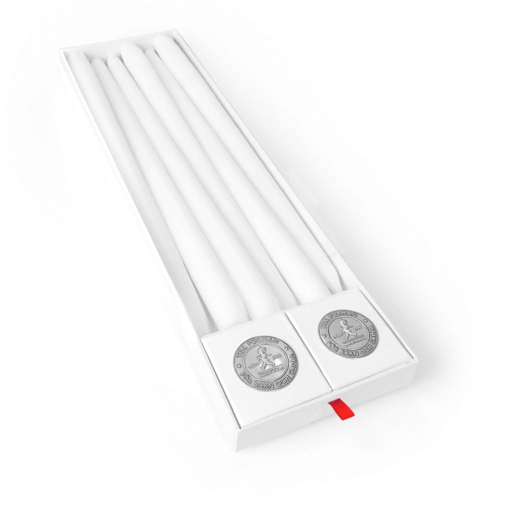 Solstickan Design Antikljus 6 pack + 2st ljushållare Mässing