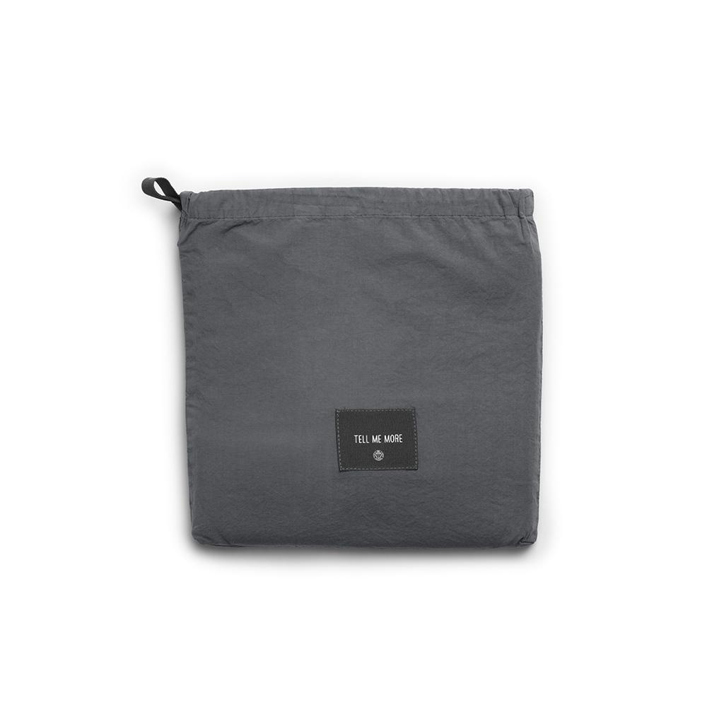 Tell Me More Stentvättad Bomull Örngott 50x70 cm Dark Grey 2-pack