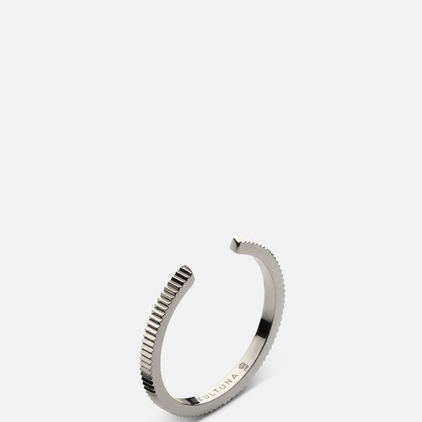 Skultuna Ribbed Ring - 1,75mm - Polished Steel