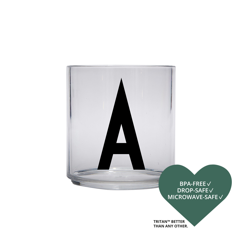 Design Letters Drinking Glass  A-Z