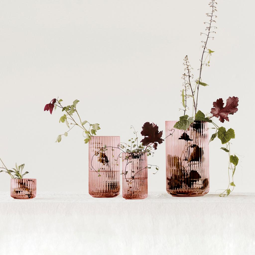 Lyngby Vas  munblåst glas Burgundy 20 cm