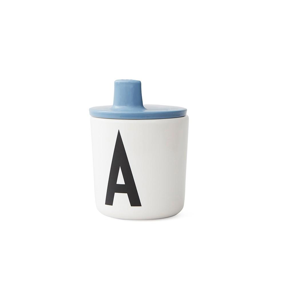 Design Letters Piplock till melamin mugg blue