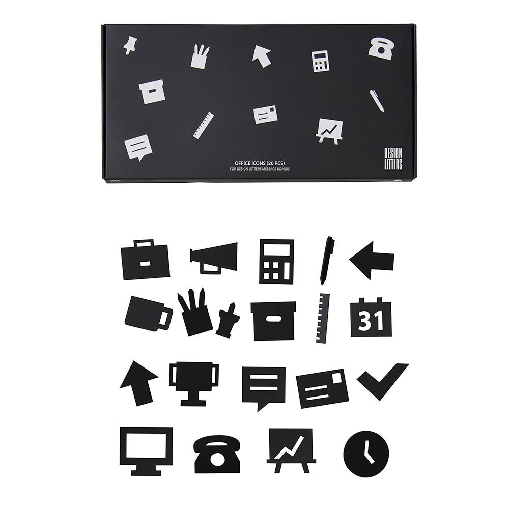 Design Letter Symboler Office Svart