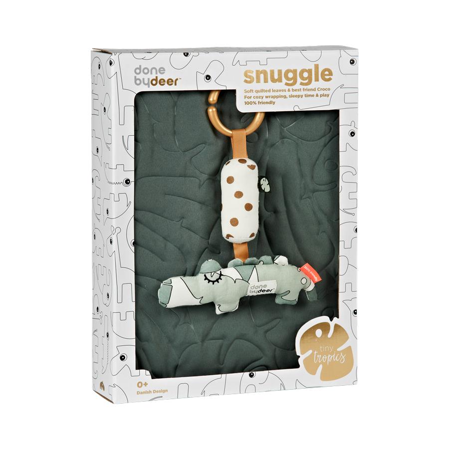 Done by Deer Tiny Tropic Presentförpackning Lekfilt och aktivitetsleksak