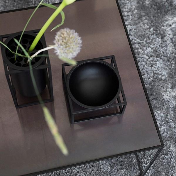 By Lassen Kubus Bowl Centerpiece Small Black