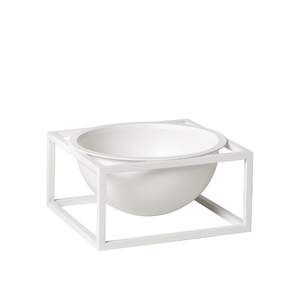 By Lassen Kubus Bowl Centerpiece Small White