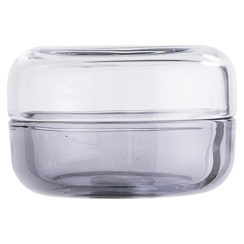 Bloomingville Skål med lock Glas Grå