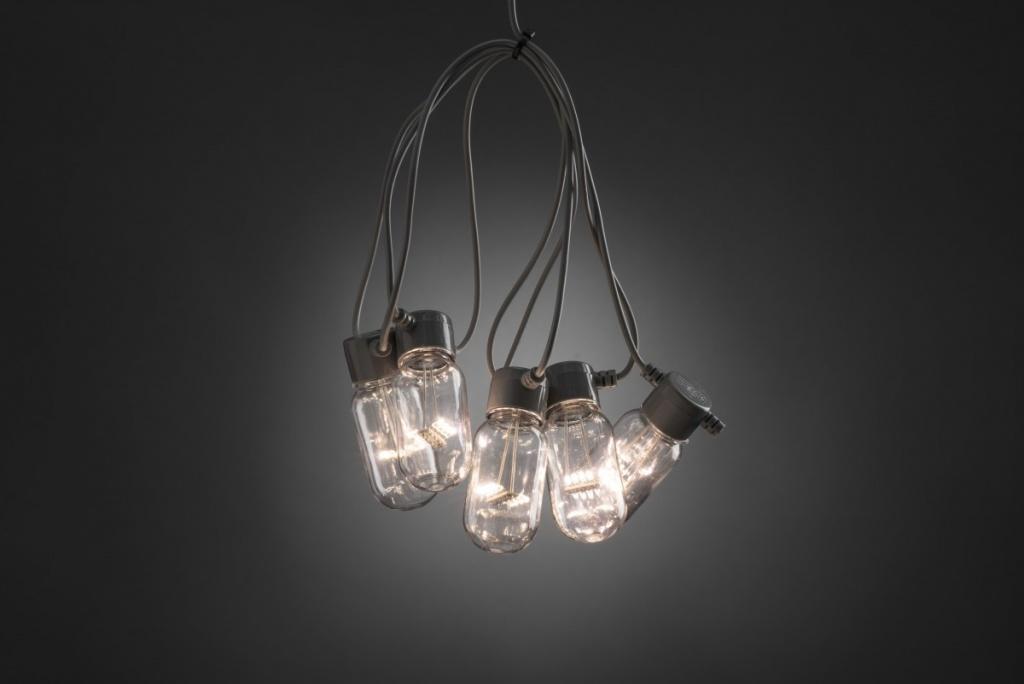 Konstsmide Ljusslinga E27 Grå 10 klara LED