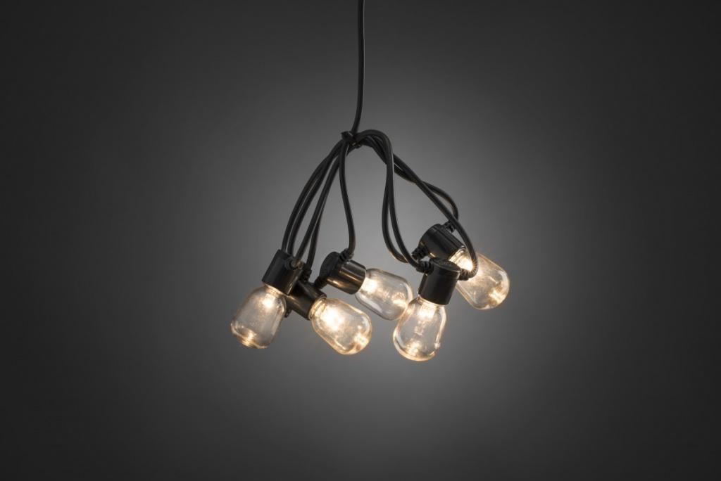 Konstsmide Ljusslinga E14 Svart 20 klara LED