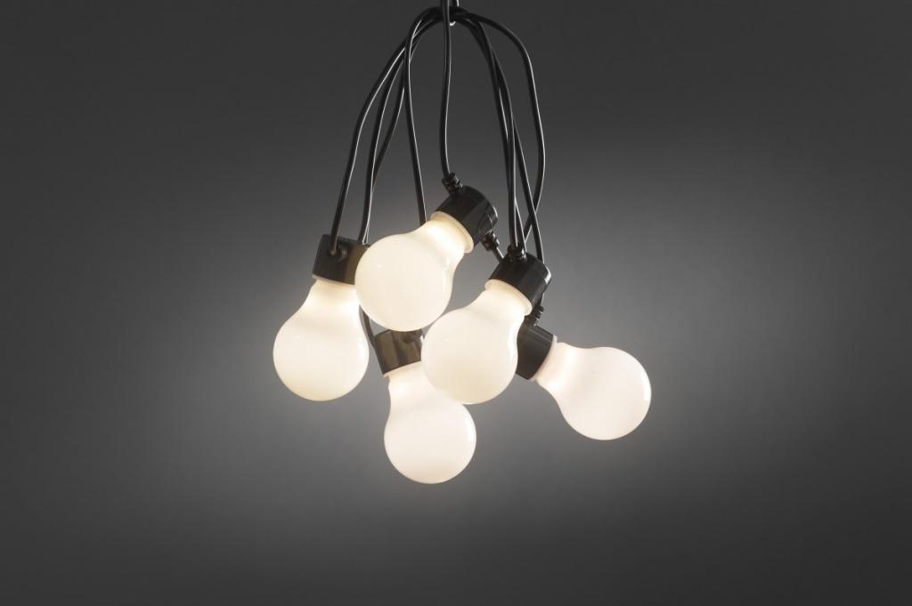 Konstsmide Ljusslinga E27 Svart 10 Vita  LED