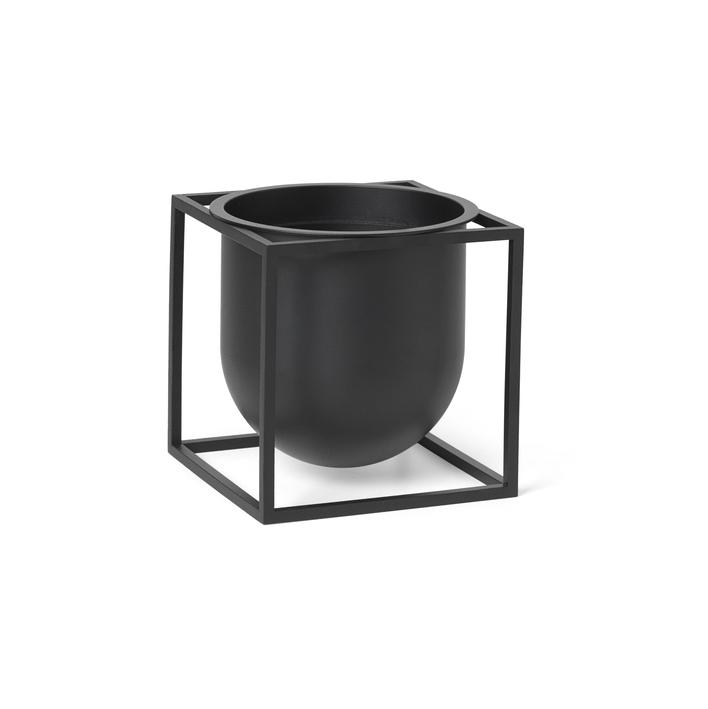 By Lassen Kubus Flowerpot 14 Black