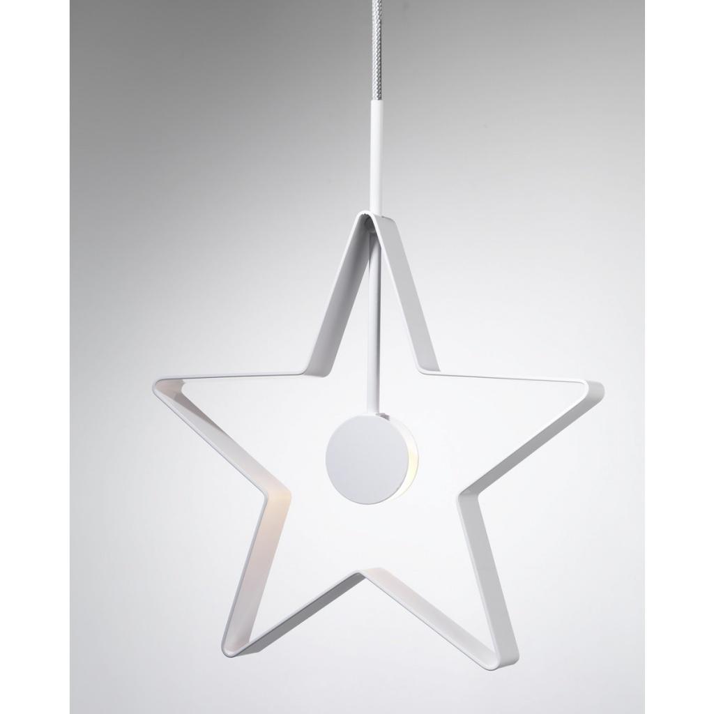 SMD Design Spica Stjärna Vit-Grå sladd