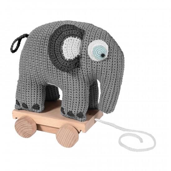 Sebra Elefant På Hjul Grå