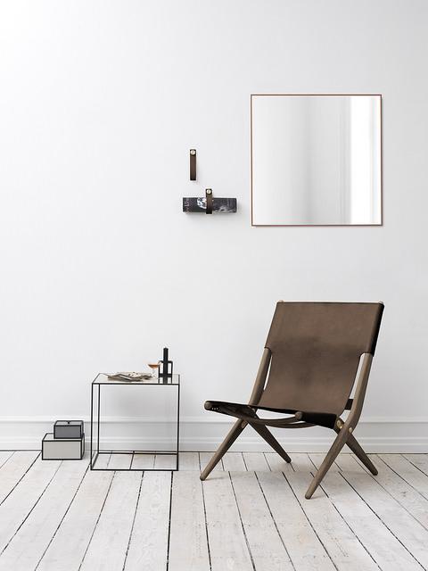By Lassen View Spegel 70x70 cm Svart