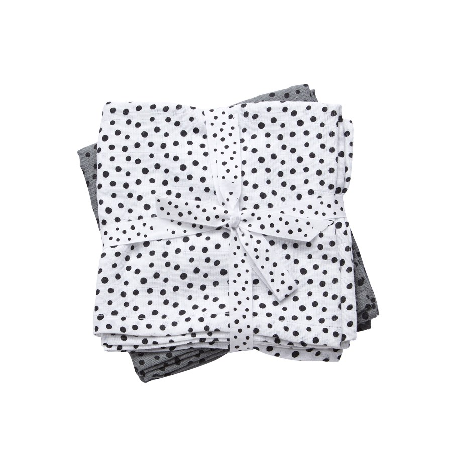 Done by Deer Snuttefilt Happy Dots Grey 2-pack